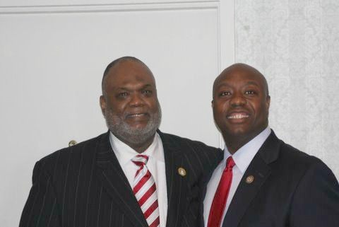 Pastor_Joe_Ellison_with_Congressman_Tim_Scott