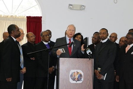 VCA Don Blake and Pastors at Press Conference