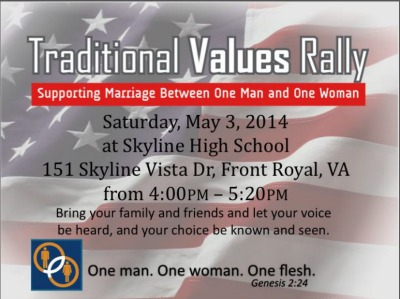 Traditional Values Rally