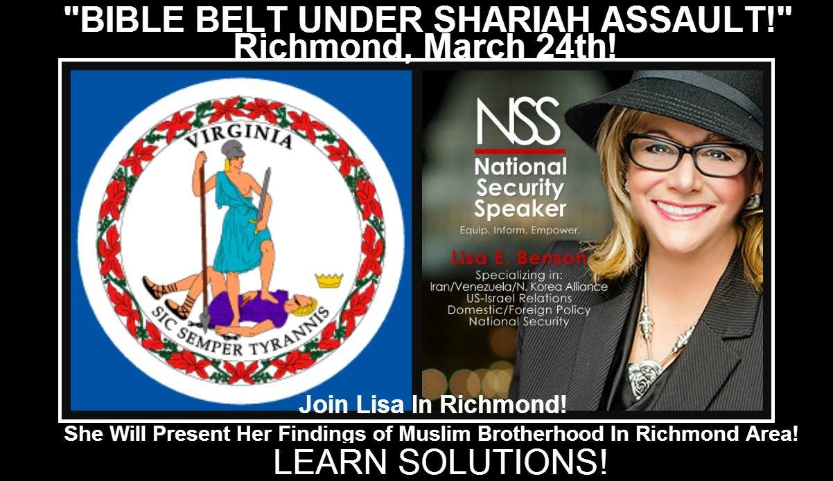 Join Lisa Benson in Richmond March 24