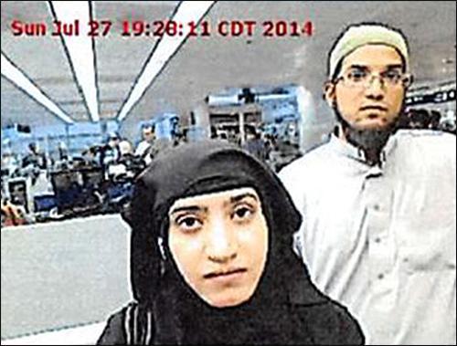 Muslim terrorists Syed Rizwan Farook and Tasheen Malik