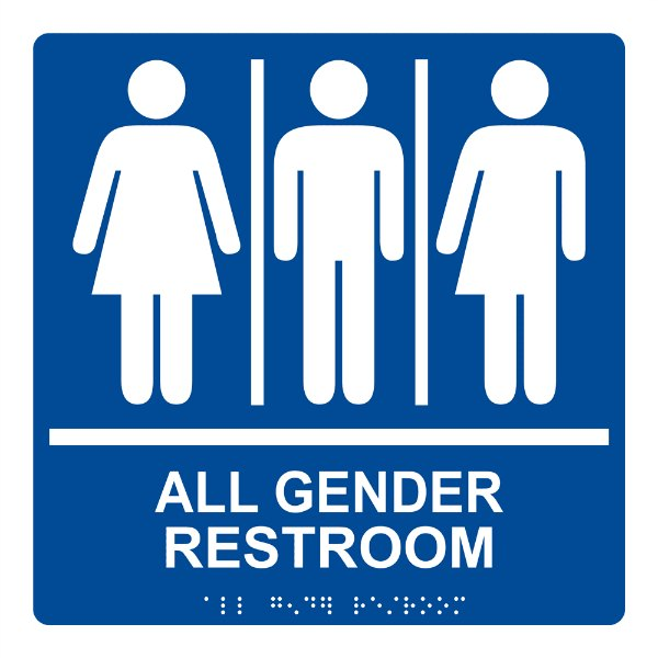 ADA-Gender-Neutral-Sign-RRE-25413-99 White on Blue 600
