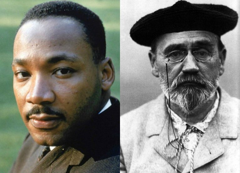 Dr.-Martin-Luther-King-and-Emile-Zola
