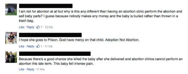 fb reactions third trimester