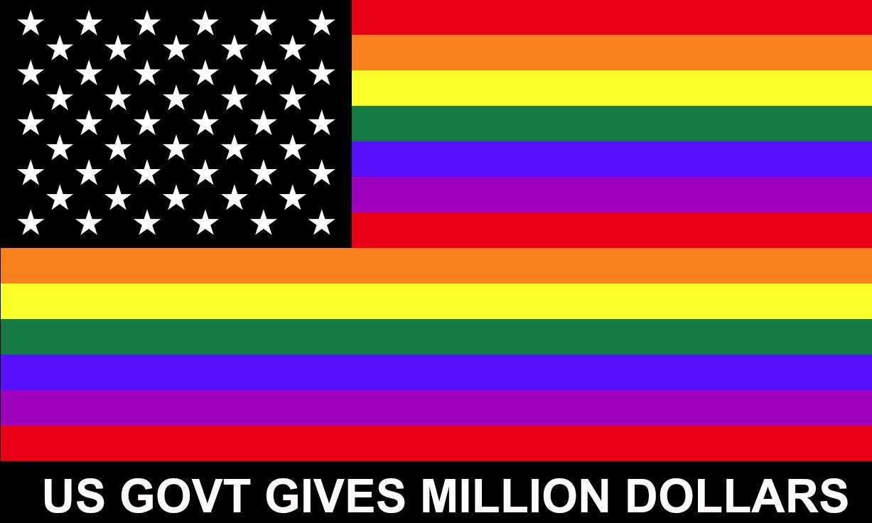 USA GAY FLAG