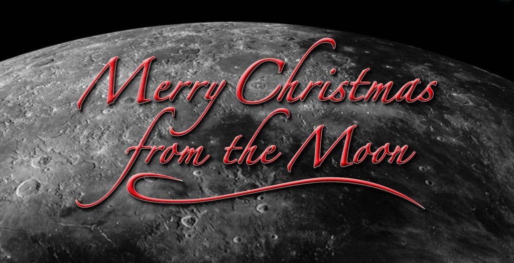 Merry Christmas from the moon